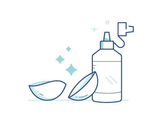 Очищайте линзы после снятия